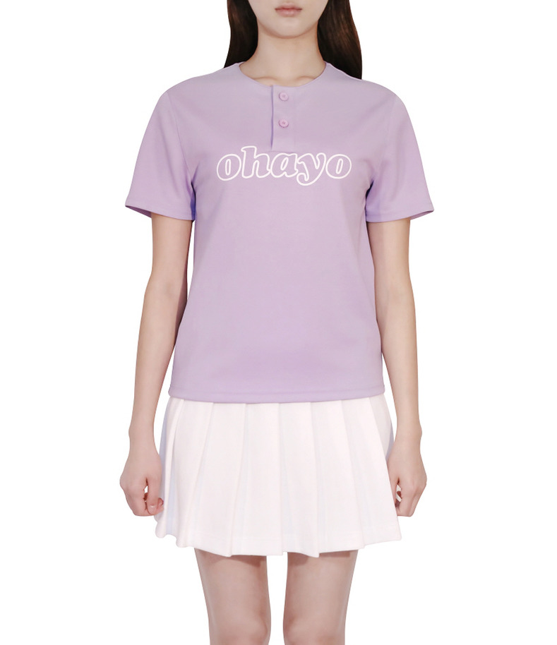 [16 s/s Uniform]Ohayo T-shirts Purple