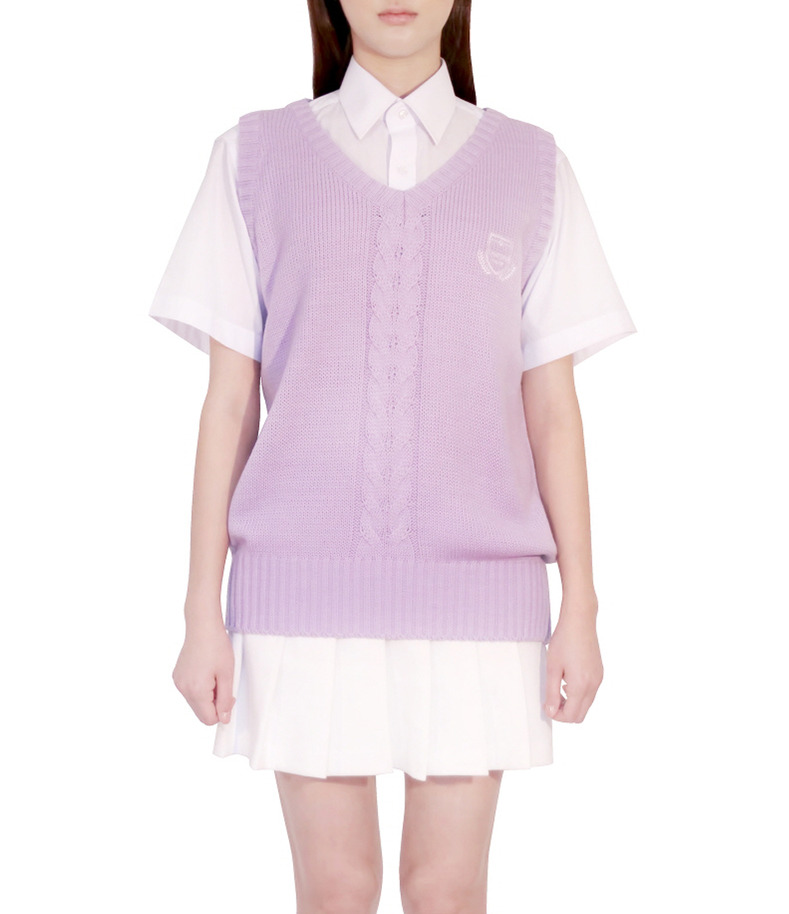 [16 s/s Uniform]Purple Vest