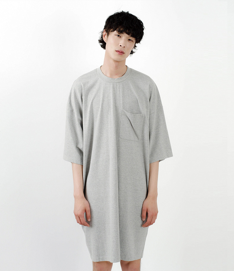[16 s/s Go on a Trip]5XL long half-sleeve shirt(GRAY)