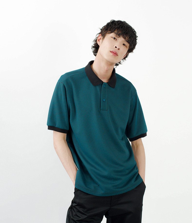 [16 s/s Go on a Trip]Stripe half-sleeve shirt(GREEN)