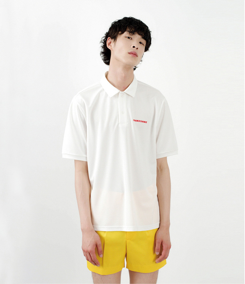 [16 s/s Go on a Trip]Cool PK half-sleeve shirt(WHITE)