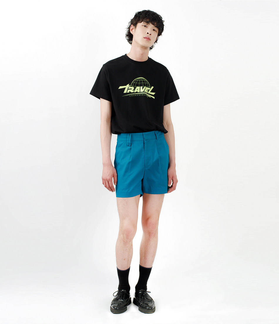 Regular fit shorts pants(BLUE)