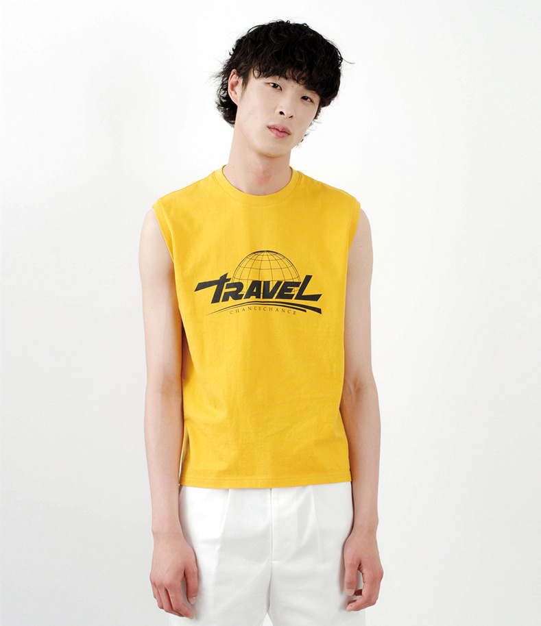 [16 s/s Go on a Trip]Travel sleeveless shirt (YELLOW)
