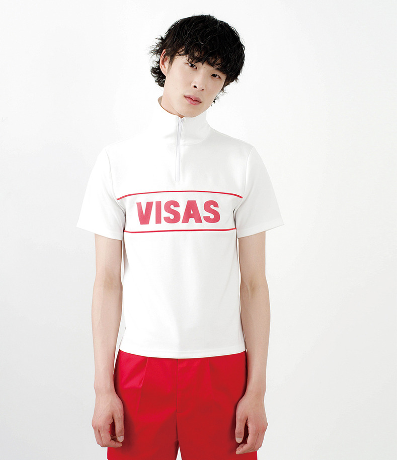[16 s/s Go on a Trip]VISAS zipper half-sleeve shirt(WHITE)
