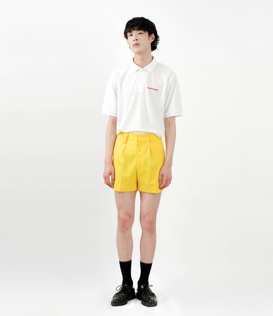 Regular fit shorts pants(Yellow)