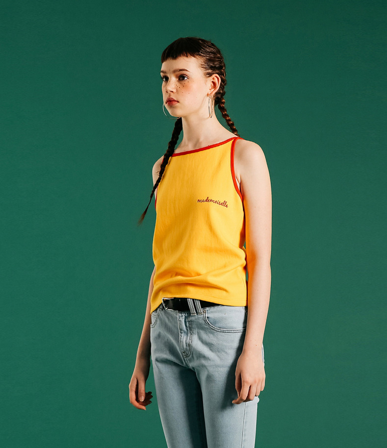 [16 Summer Collection]Mademoiselle  Sleeveless shirts(Yellow)