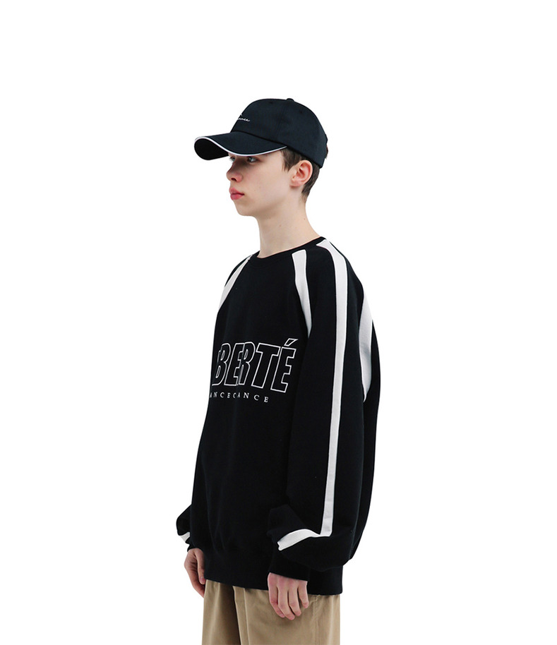 "[17s/s ""Liberté""]Match Sweatshirts(Black)"