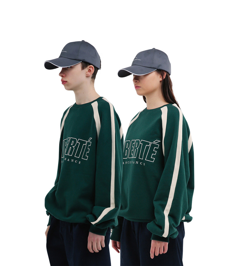 "[17s/s ""Liberté""]Match Sweatshirts(Green)"