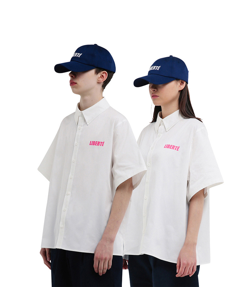 "[17s/s ""Liberté""]Short Sleeve Shirt(White)"