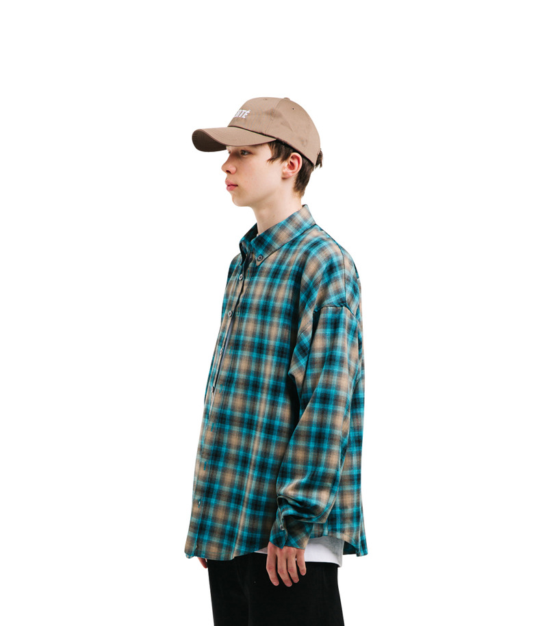 "[17s/s ""Liberté]Check Shirt(Green)"