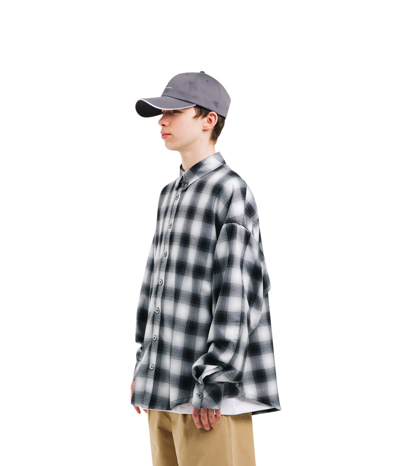 "[17s/s ""Liberté]Check Shirt(Black)"