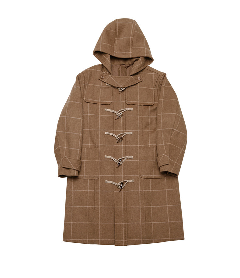 Check Duffle Coat(Camel)