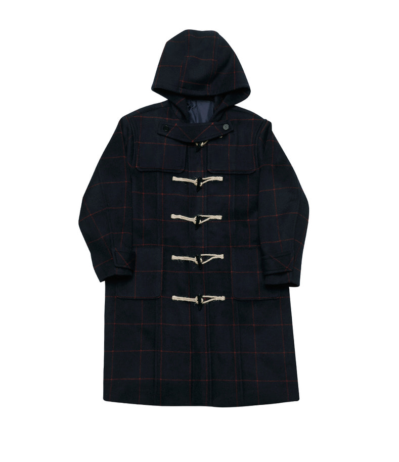 Check Duffle Coat(Navy)