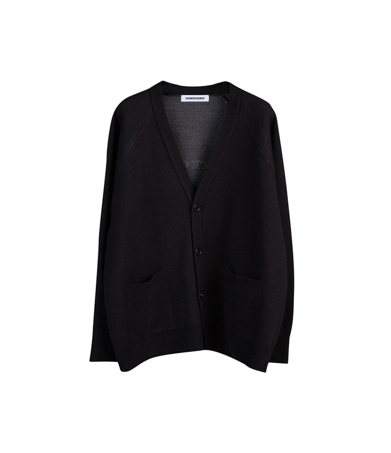 Logo Knit Cardigan(Black)