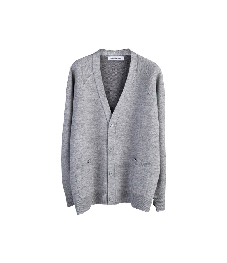 Logo Knit Cardigan(Grey)