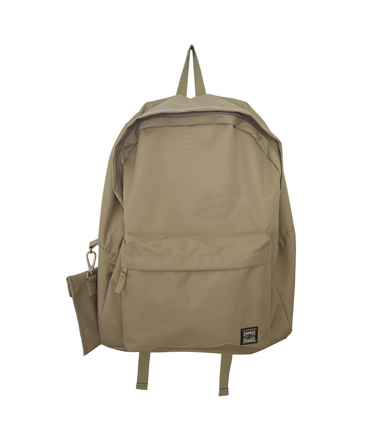 Label Backpack(Beige)