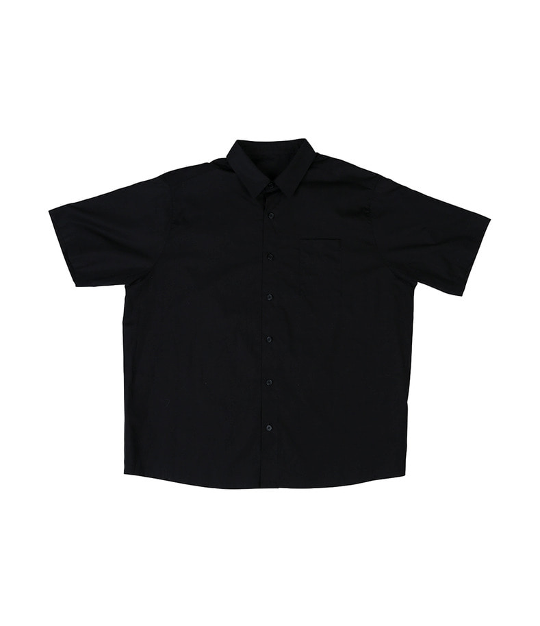 Short Sleeve Shirt(Black)