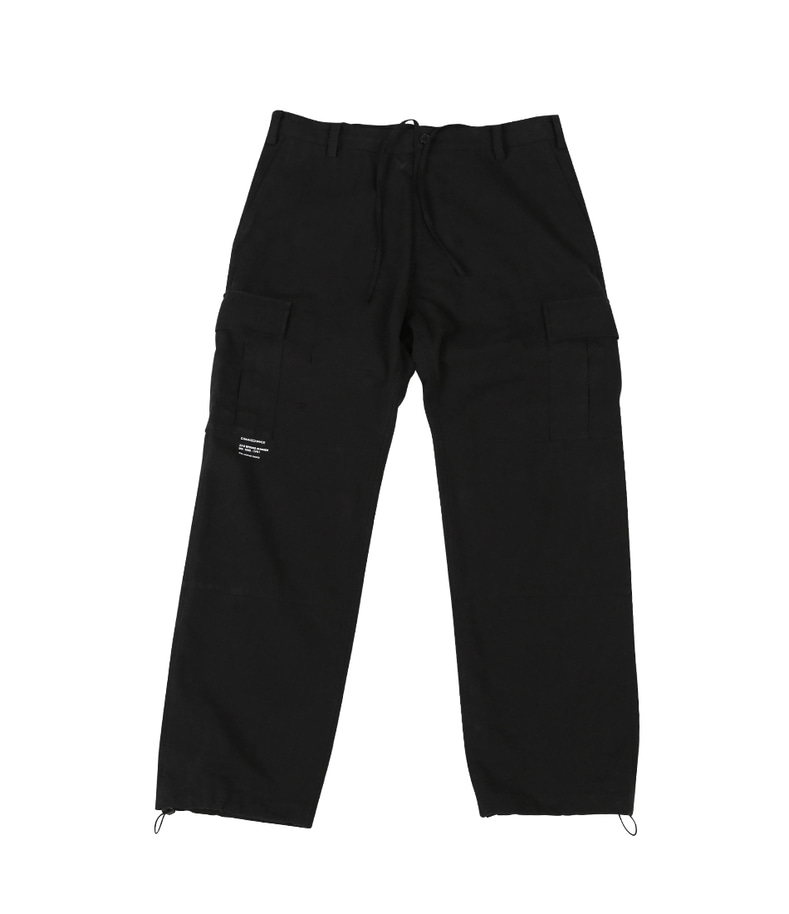 Pocket String Pants(Black)