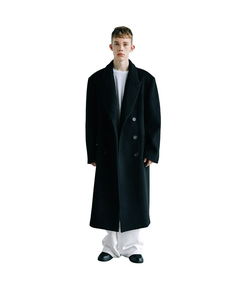 Wool Over Coat(Black)