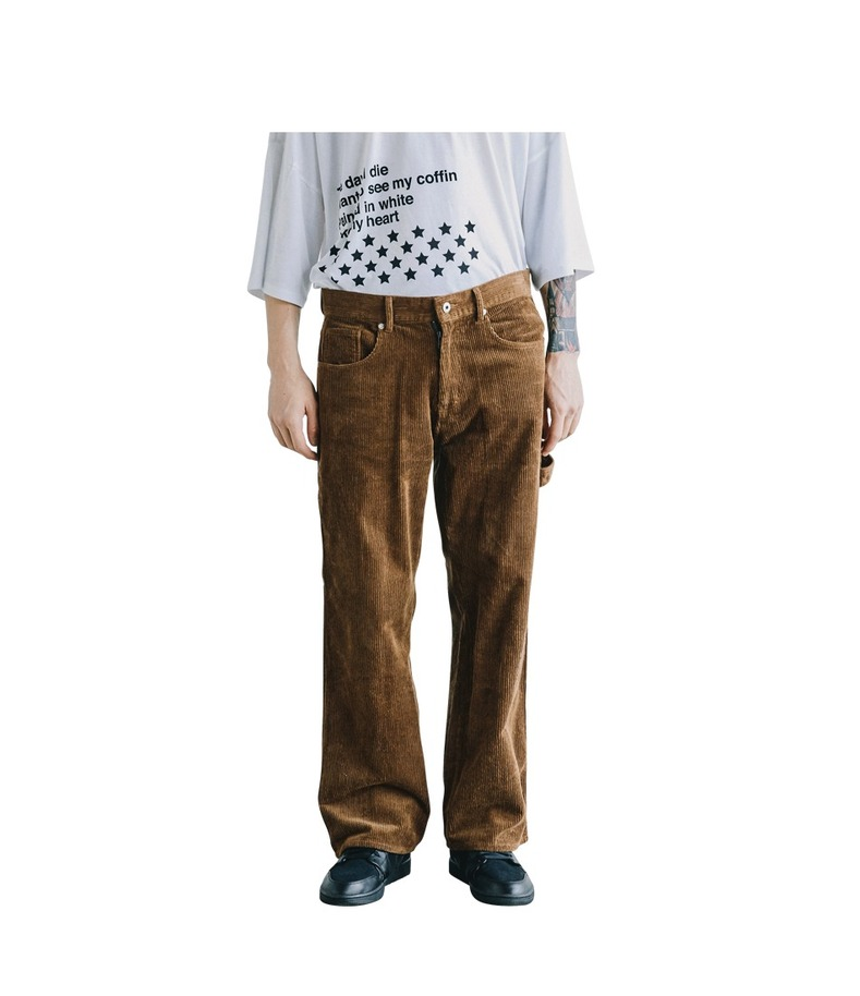 Strap Corduroy Pants(Brown)