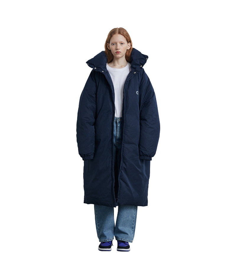 Long Down Parka(Navy)