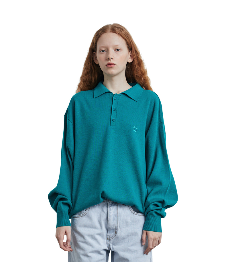 C Logo Collar Knit(Green)