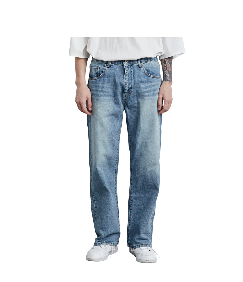 Straight Denim Pants(Blue)