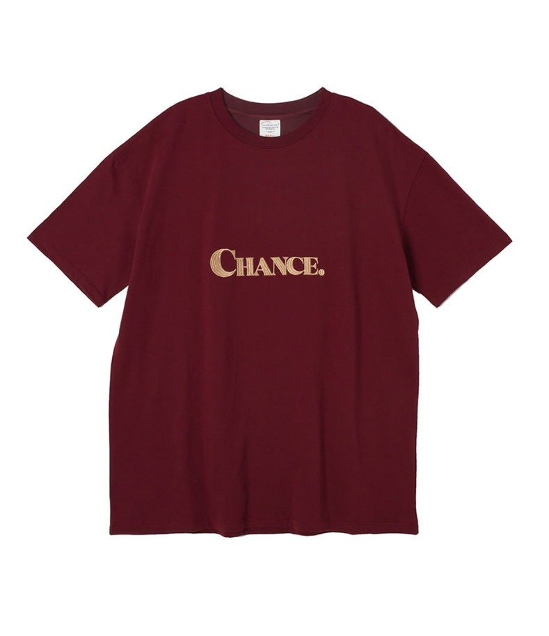 CHANCE T-SHIRT(BURGUNDY)