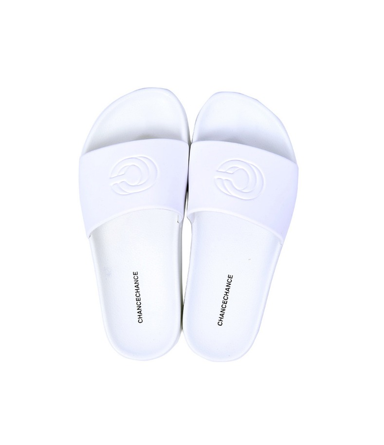 CC LOGO Slippers(White)