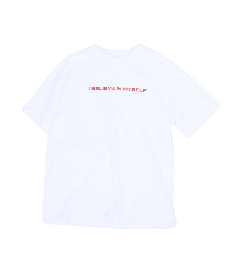 BELIEVE IN MYSELF T-SHIRT(WHITE)
