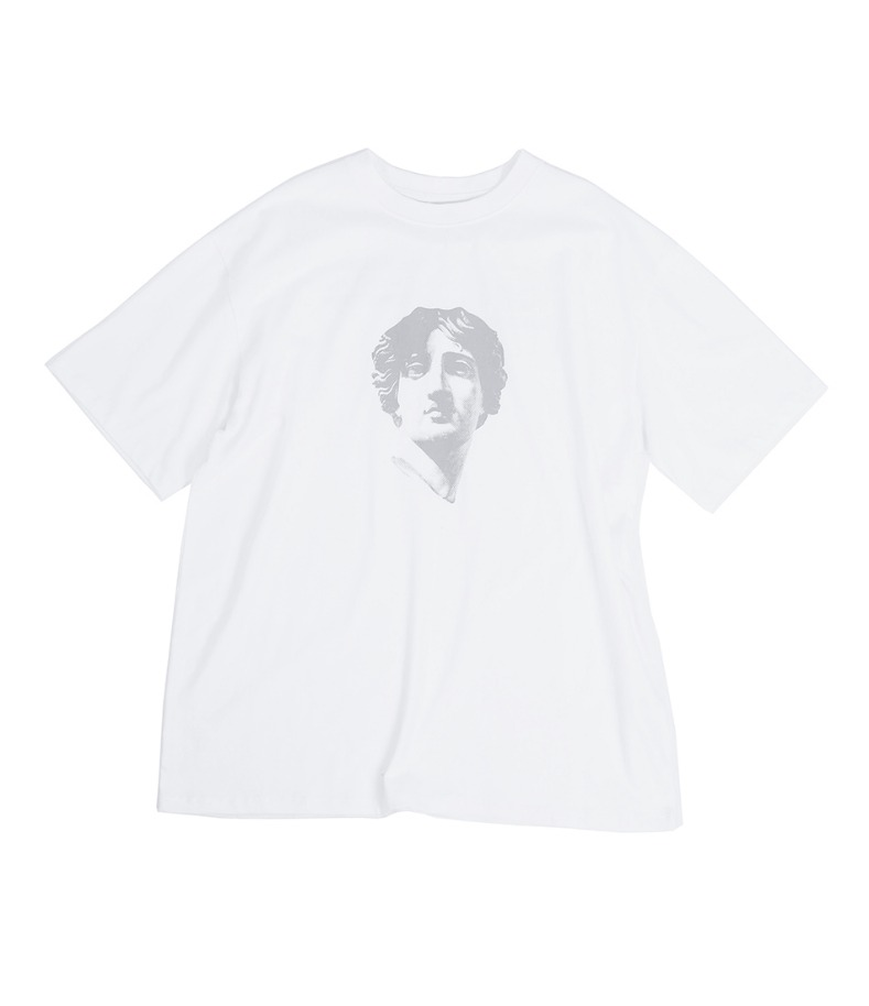 SCULPTURE PRINT T-SHIRT(WHITE)