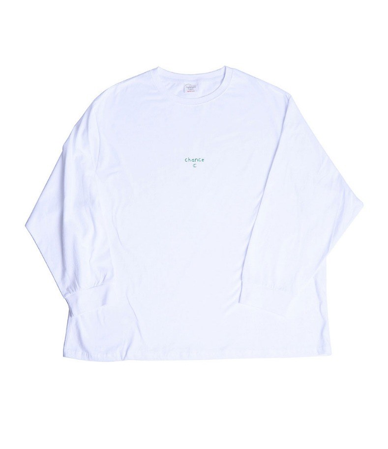 CHANCE LONGSLEEVE T-SHIRT(WHITE/GREEN)