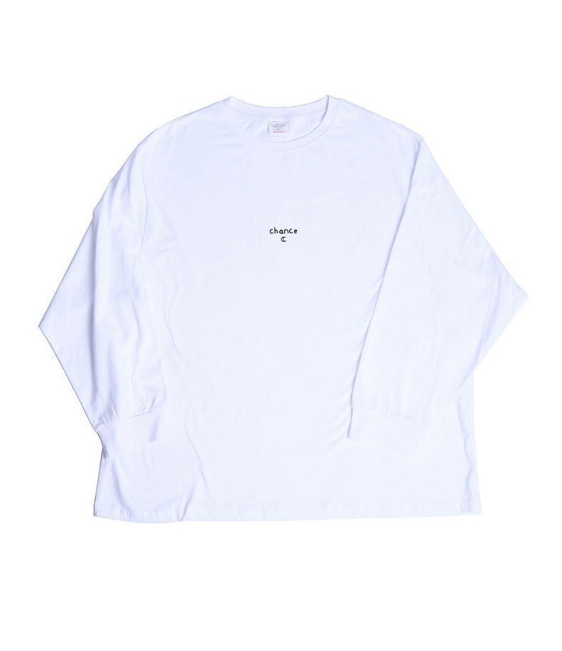 CHANCE LONGSLEEVE T-SHIRT(WHITE/BLACK)