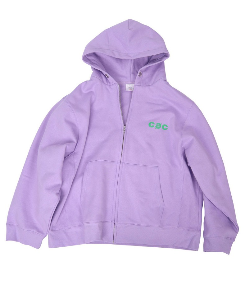 CEC HOOD ZIPUP(PURPLE/기모)