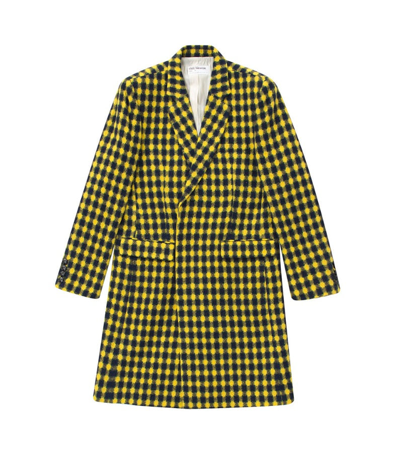 YELLOW CHECKED SINGLE COAT