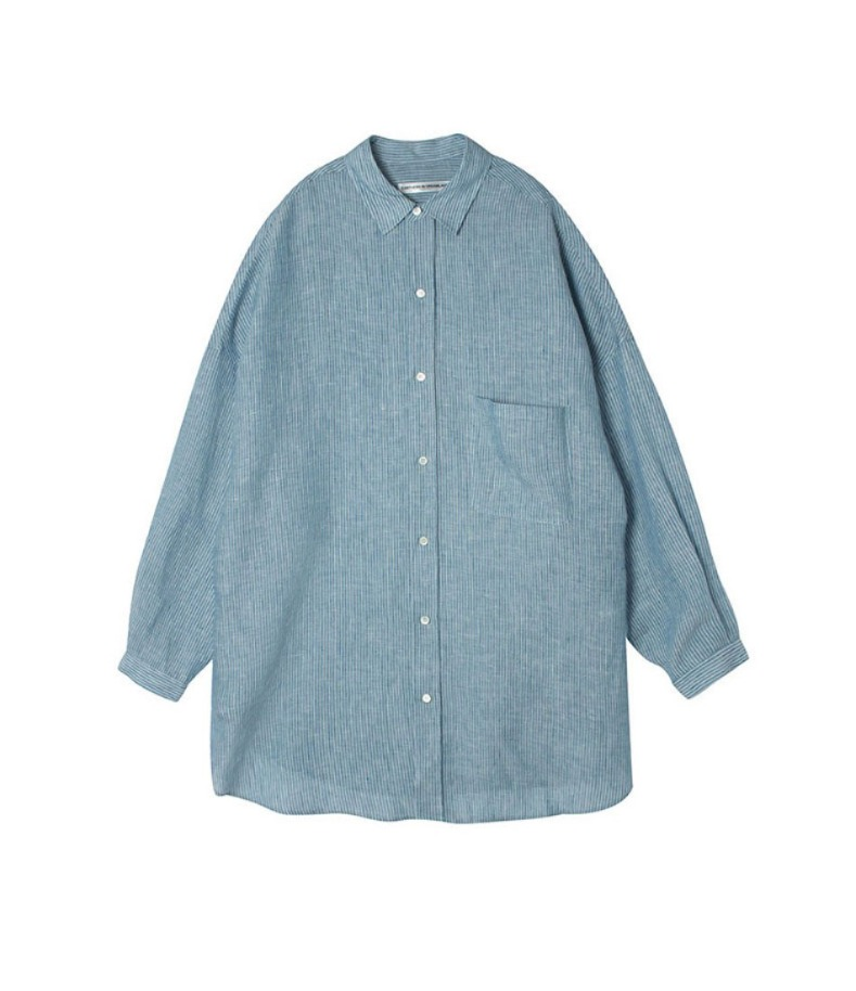 OVERSIZED SHIRT(BLUE)