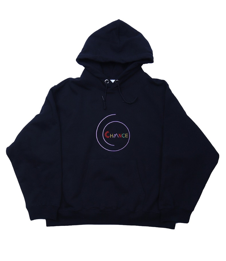 CHANCE SPIRAL HOODY-T(BLACK/기모)