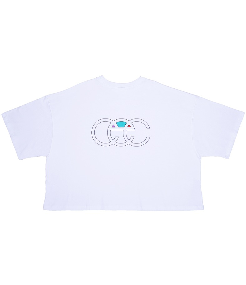 BACK LOGO CROPPED T-SHIRT(WHITE)