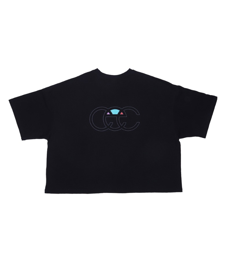 BACK LOGO CROPPED T-SHIRT(BLACK)