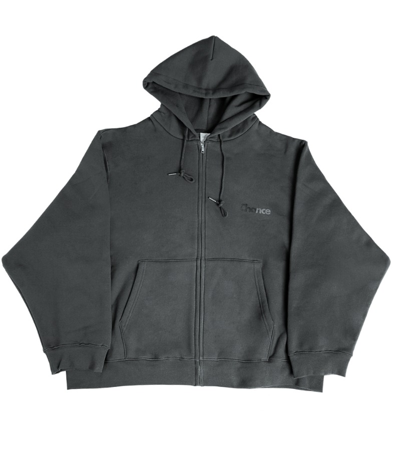 CHANCE ZIP-UP HOODIE(CHARCOAL/기모)