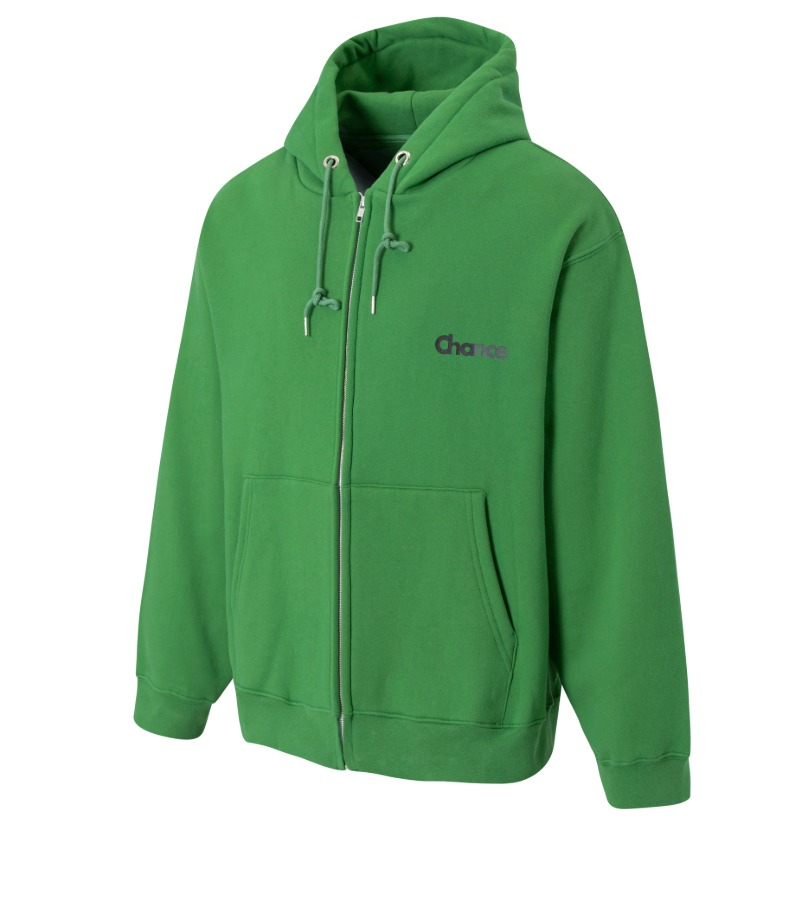 CHANCE ZIP-UP HOODIE(GREEN/기모)