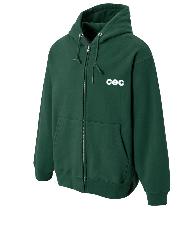 CEC ZIP-UP HOODIE(GREEN/기모)
