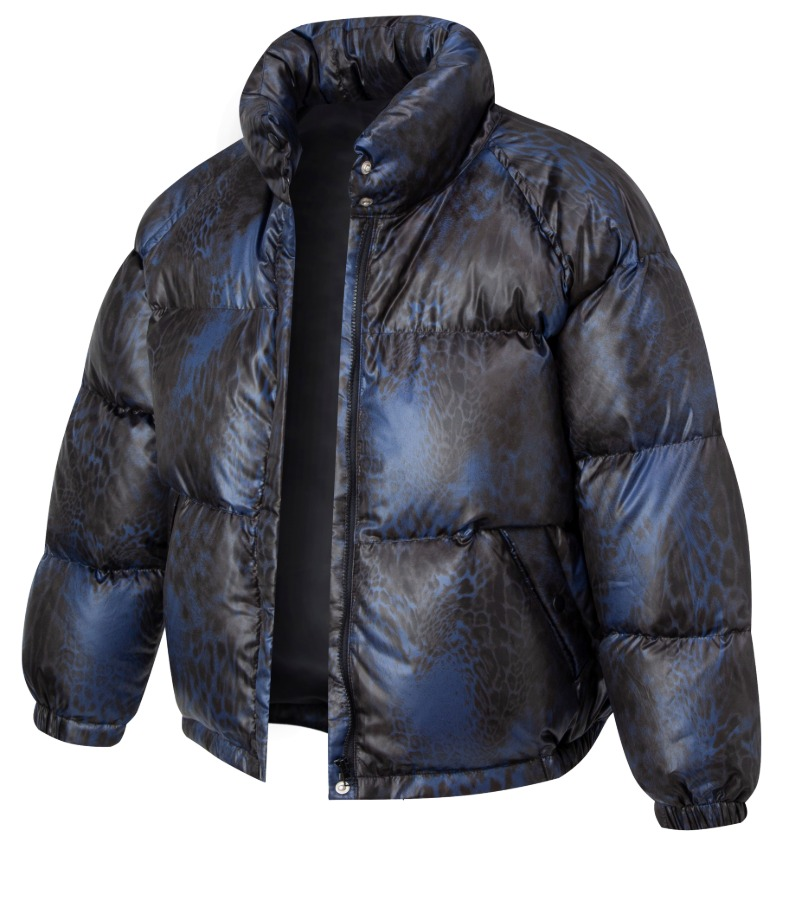 CHANCECHANCE DOWN PARKA(NAVY LEOPARD)