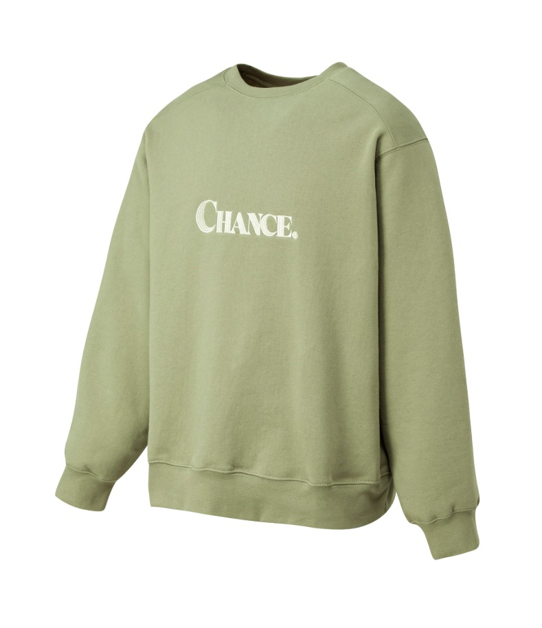 CHANCE SWEATSHIRT(Olive/기모)