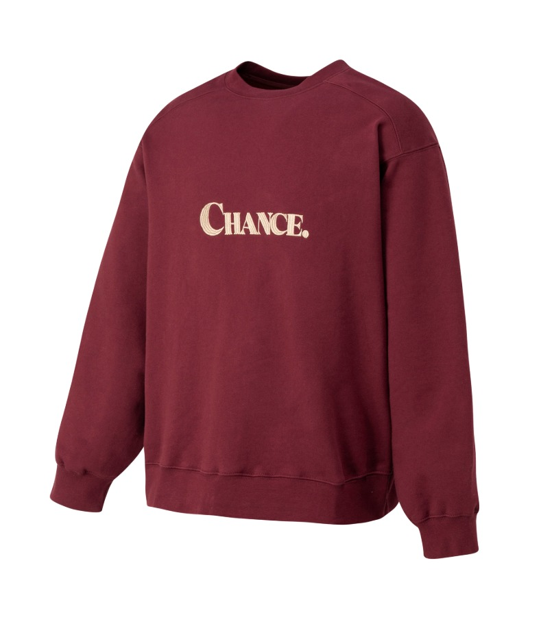 CHANCE SWEATSHIRT(Burgundy/기모)