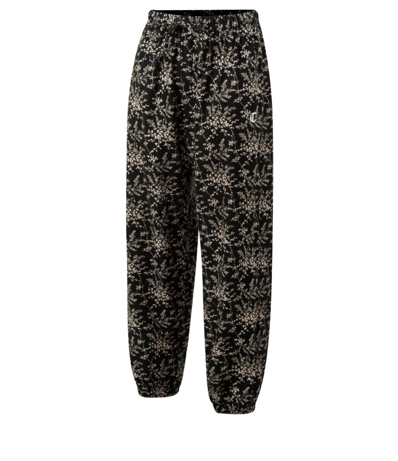 BLACK FLOWER LOUNGE PANTS