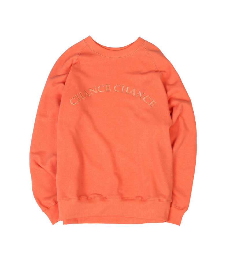 Logo Raglan SWEATSHIRT(Orange)/기모없음