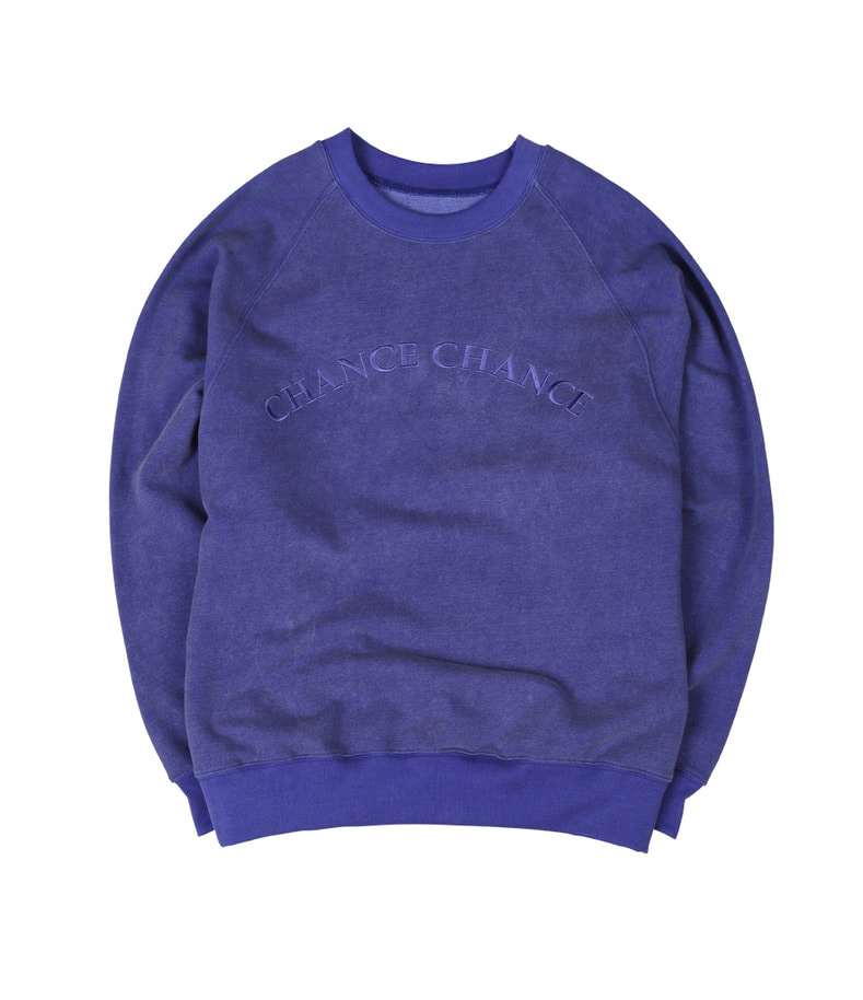 Logo Raglan SWEATSHIRT(Purple)/기모없음