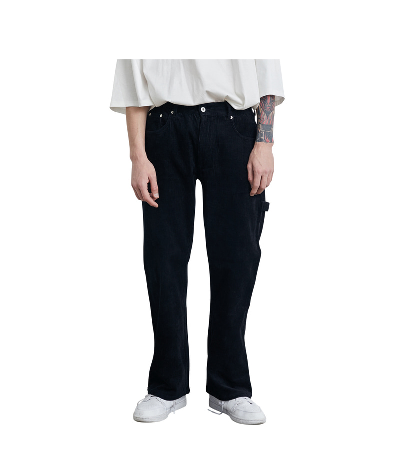Strap Corduroy Pants(Black)