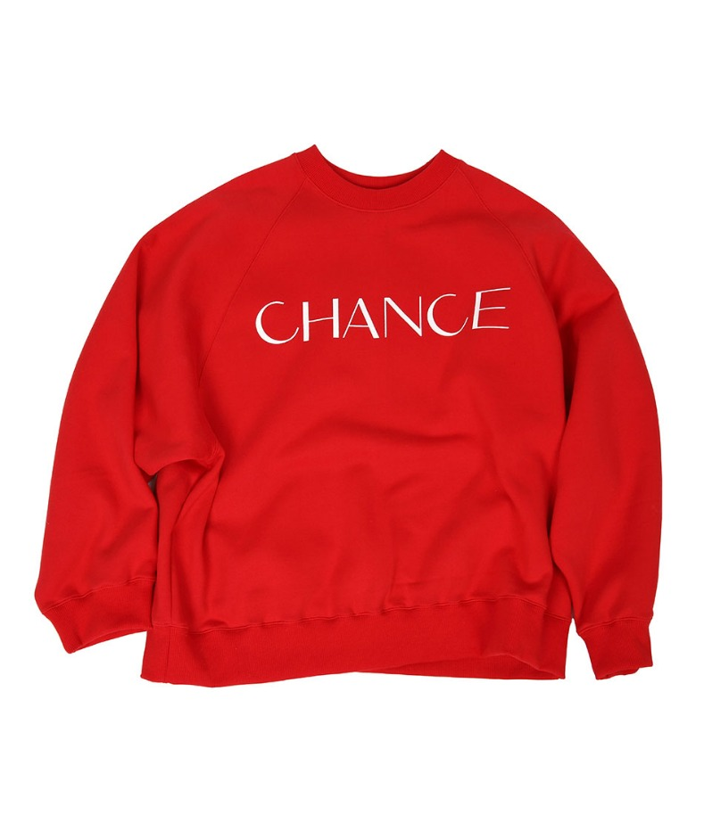CHANCE RAGLAN SWEATSHIRT(RED/기모)